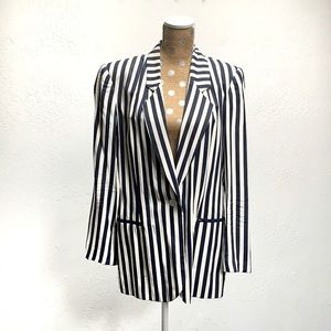 Worthington Vintage Navy Striped Blazer